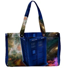 The Police Box Tardis Time Travel Device Used Doctor Who Canvas Work Bag by Sudhe