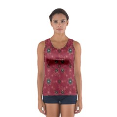 Modern Floral Collage Print Pattern Modern Floral Collage Print Pattern Sport Tank Top  by dflcprintsclothing