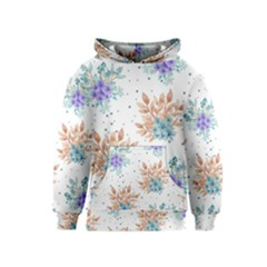 Fancy Floral Pattern Kids  Pullover Hoodie by tarastyle