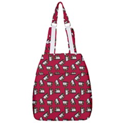 Bento Lunch Red Center Zip Backpack