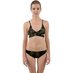 Fern Black Wrap Around Bikini Set by snowwhitegirl