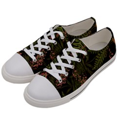 Fern Black Women s Low Top Canvas Sneakers by snowwhitegirl