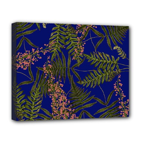 Fern Blue Deluxe Canvas 20  X 16  (stretched)