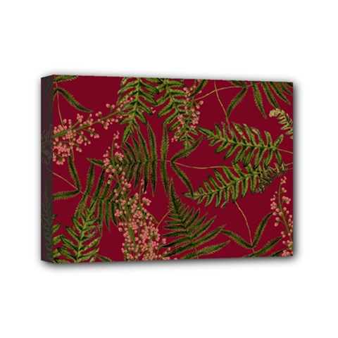 Fern Red Mini Canvas 7  X 5  (stretched)