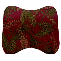 Fern Red Velour Head Support Cushion by snowwhitegirl