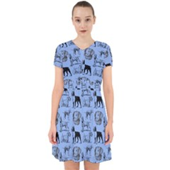 Dog Pattern Blue Adorable In Chiffon Dress by snowwhitegirl