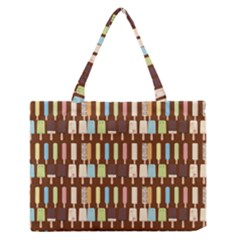 Candy Popsicles Brown Zipper Medium Tote Bag by snowwhitegirl