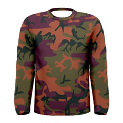 Camouflage Orange Men s Long Sleeve Tee by snowwhitegirl