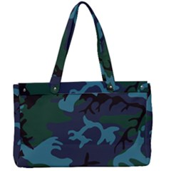 Camouflage Blue Canvas Work Bag