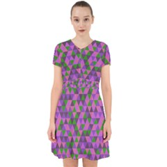 Retro Pink Purple Geometric Pattern Adorable In Chiffon Dress by snowwhitegirl