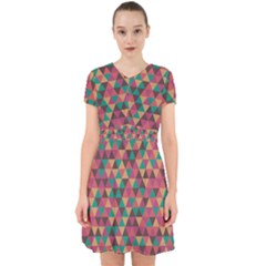 Retro Orange Green Geometric Pattern Adorable In Chiffon Dress by snowwhitegirl
