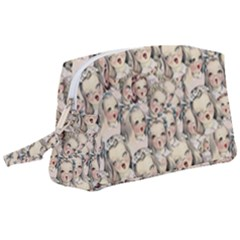 Vintage Singing Heads Wristlet Pouch Bag (large) by snowwhitegirl