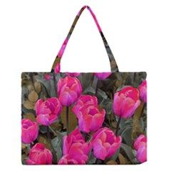 Pink Tulips Zipper Medium Tote Bag by snowwhitegirl