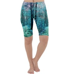 Blue Forest Cropped Leggings