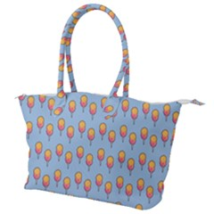 Cotton Candy Pattern Blue Canvas Shoulder Bag
