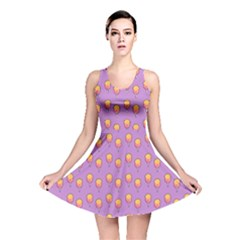 Cotton Candy Pattern Violet Reversible Skater Dress