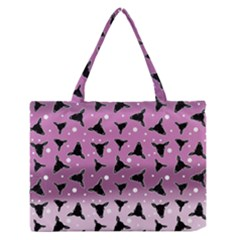 Deer Dots Ombre Zipper Medium Tote Bag by snowwhitegirl