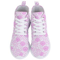 Peony Asia Spring Flowers Natural Women s Lightweight High Top Sneakers