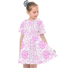 Peony Asia Spring Flowers Natural Kids  Sailor Dress by Pakrebo