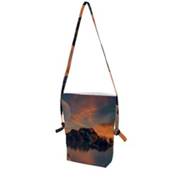 Horizon Sunset Evening Sunrise Folding Shoulder Bag