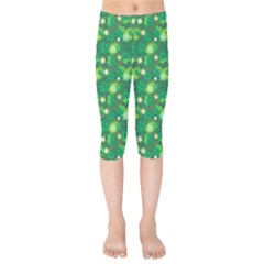 4 Leaf Clover Star Glitter Seamless Kids  Capri Leggings