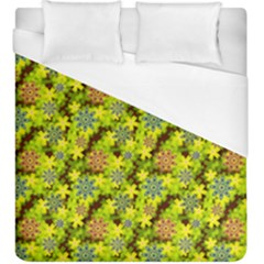 Flowers Yellow Red Blue Seamless Duvet Cover (king Size) by Pakrebo