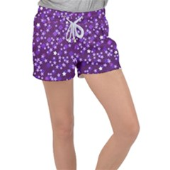 Textile Cross Pattern Square Women s Velour Lounge Shorts