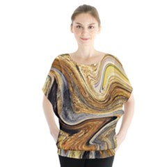 Abstract Acrylic Art Artwork Batwing Chiffon Blouse by Pakrebo