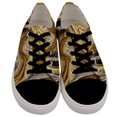 Abstract Acrylic Art Artwork Men s Low Top Canvas Sneakers