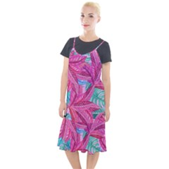 Leaves Tropical Reason Stamping Camis Fishtail Dress by Pakrebo