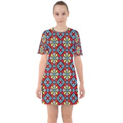 Ml 162 Sixties Short Sleeve Mini Dress by ArtworkByPatrick