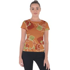 Fancy Floral Pattern Short Sleeve Sports Top  by tarastyle