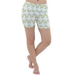 Fancy Floral Pattern Lightweight Velour Yoga Shorts by tarastyle