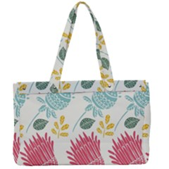 Fancy Floral Pattern Canvas Work Bag by tarastyle