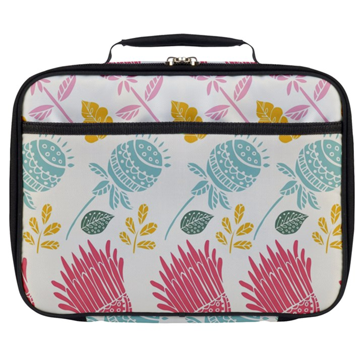 Fancy Floral Pattern Full Print Lunch Bag