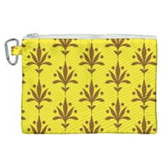 Fancy Floral Pattern Canvas Cosmetic Bag (xl) by tarastyle