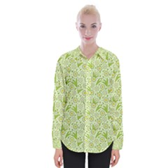 Fancy Floral Pattern Womens Long Sleeve Shirt by tarastyle