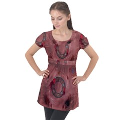 Wonderful Dream Catcher Puff Sleeve Tunic Top by FantasyWorld7