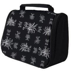 Black And White Ethnic Design Print Full Print Travel Pouch (big) by dflcprintsclothing
