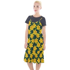 Yellow Daffodils Pattern Camis Fishtail Dress by Valentinaart