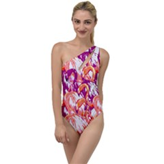 Flamingos To One Side Swimsuit by StarvingArtisan
