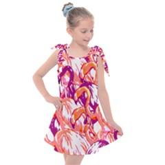 Flamingos Kids  Tie Up Tunic Dress