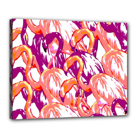 Flamingos Canvas 20  X 16  (stretched)