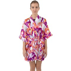 Flamingos Quarter Sleeve Kimono Robe by StarvingArtisan