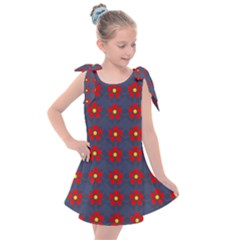 Red Begonias Kids  Tie Up Tunic Dress by WensdaiAddamns