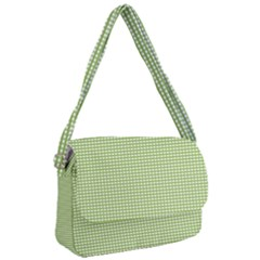 Green Gingham Courier Bag by retrotoomoderndesigns