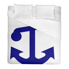 United States Navy Anchor Insignia Duvet Cover (full/ Double Size) by abbeyz71