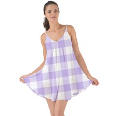 Lavender Gingham Love The Sun Cover Up