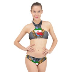 Insignia Of Iranian Army 55th Airborne Brigade High Neck Bikini Set by abbeyz71