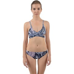 Garden Of The Phoenix Granite Wrap Around Bikini Set by Riverwoman